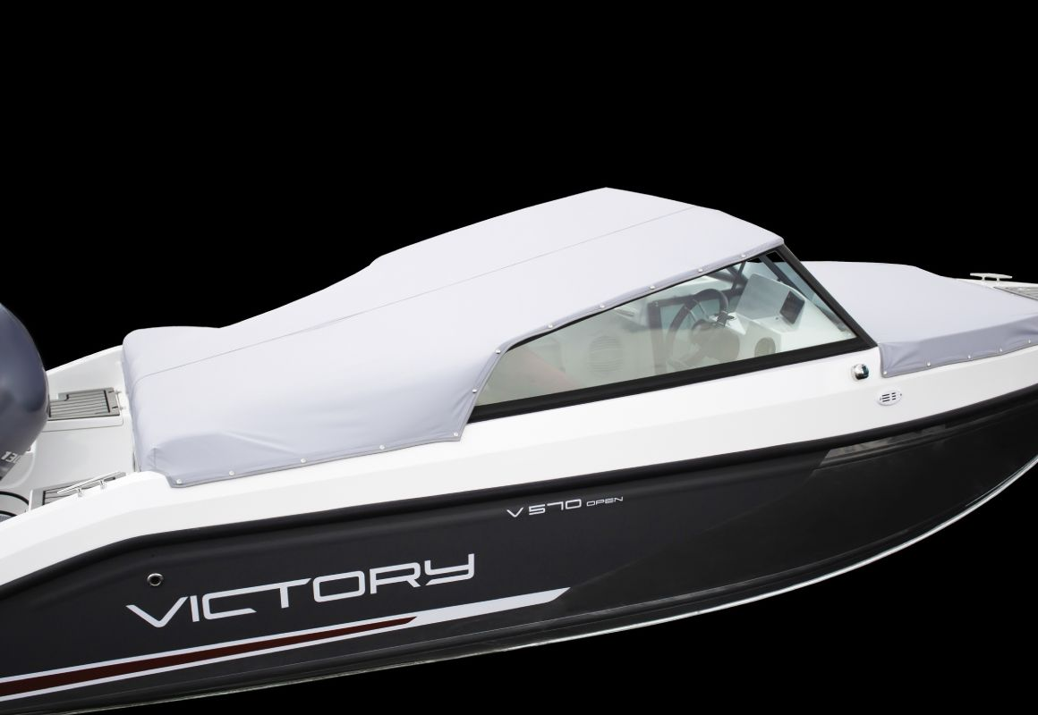 тент стояночный кокпит на лодку victory 570